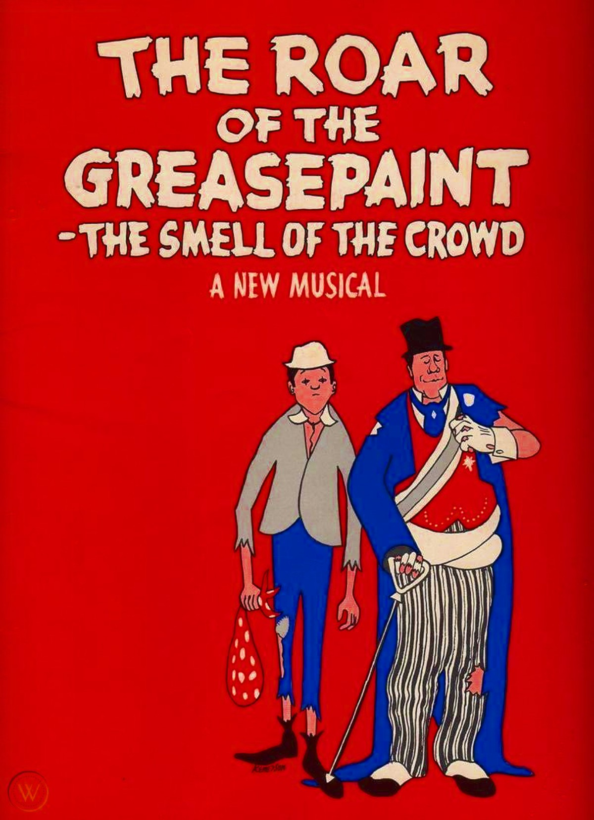 «The Roar of the Greasepaint – The Smell of the Crowd» (мюзикл 1964 года, афиша)